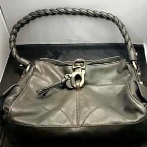 Francesco Biasia, Brass, Leather, Braided Strap